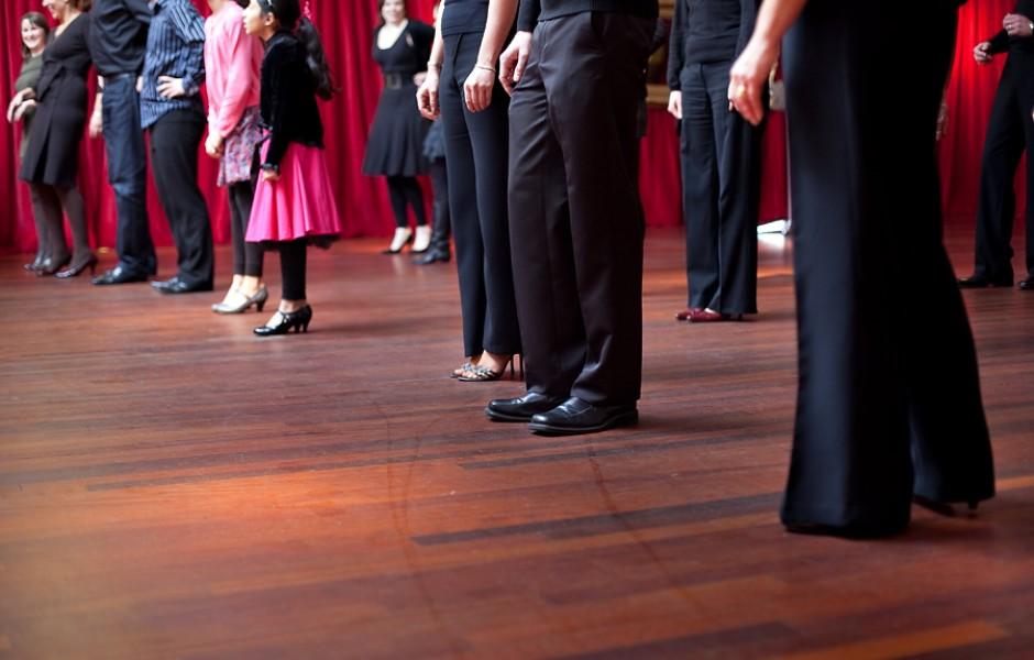 Event: Strictly Come Dancing stars Darren Bennett and Lilia Kopylova give a dance class
