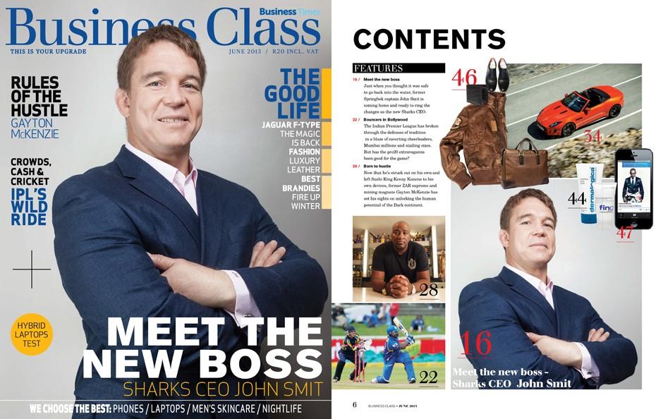 sunday times business class magazine cover john smit sa romain