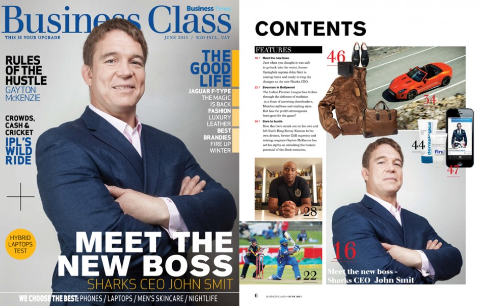 Sunday Times Business Class Magazine Cover: John Smit (SA)